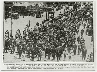Beef March, King William Street, Adelaide, 1931