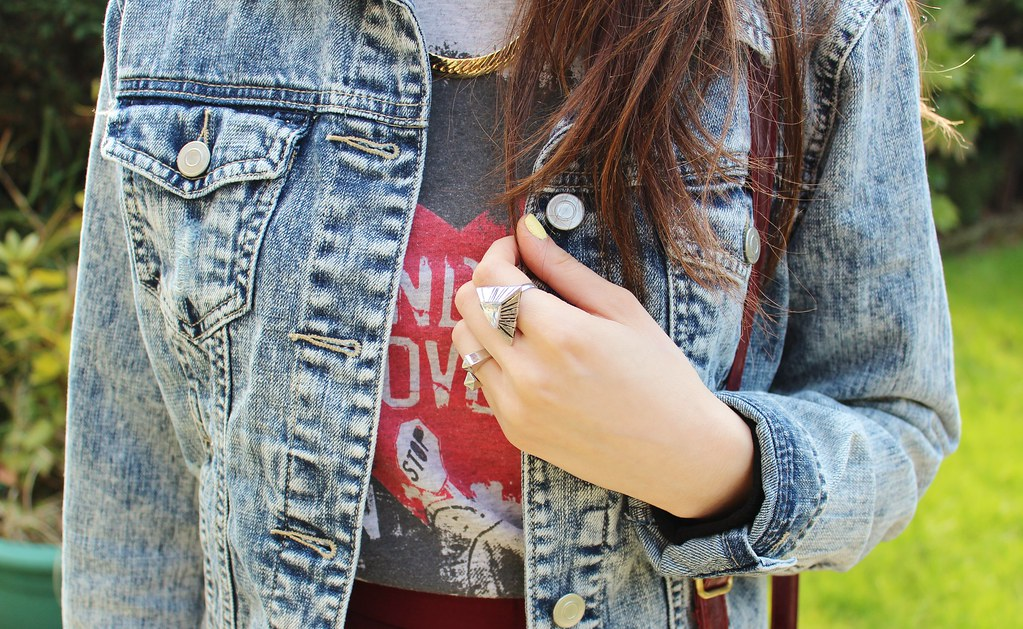 Rings and Denim Jacket