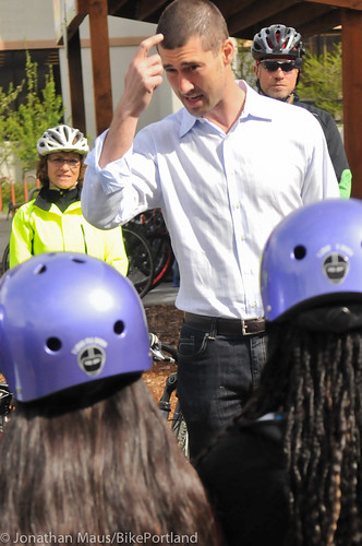 Joey Harrington school bike safety event-11