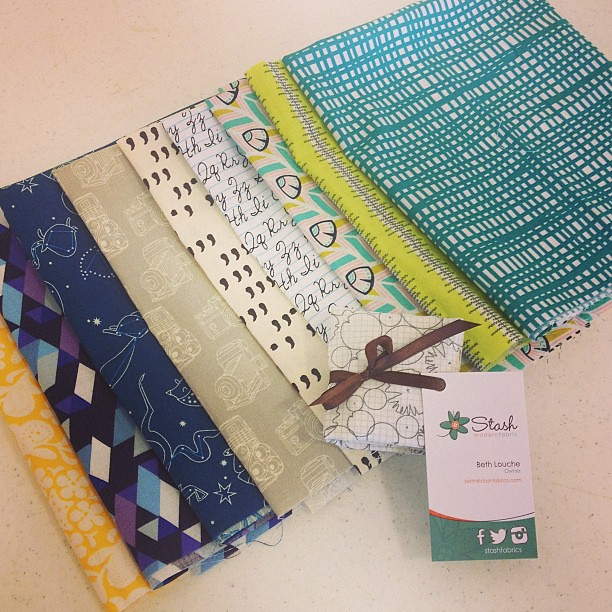 My purchases/goodies from @stashfabrics !! #thestashbash
