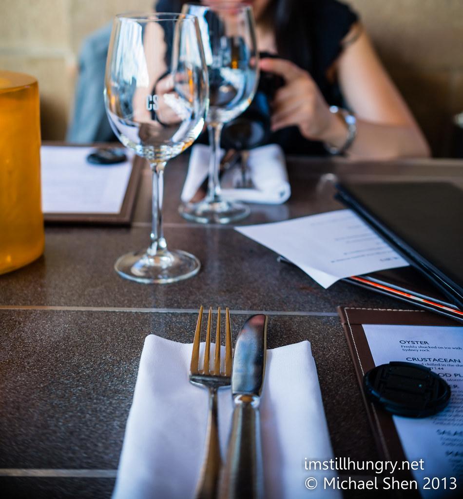 Cafe Sydney table