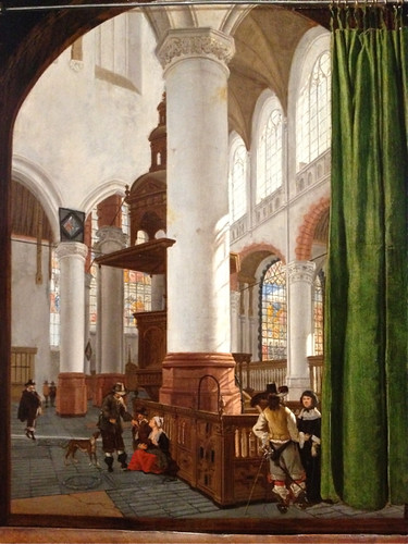 Gerrit Houkgeest 'Interior of the Oude Kerk in Delft' 1654