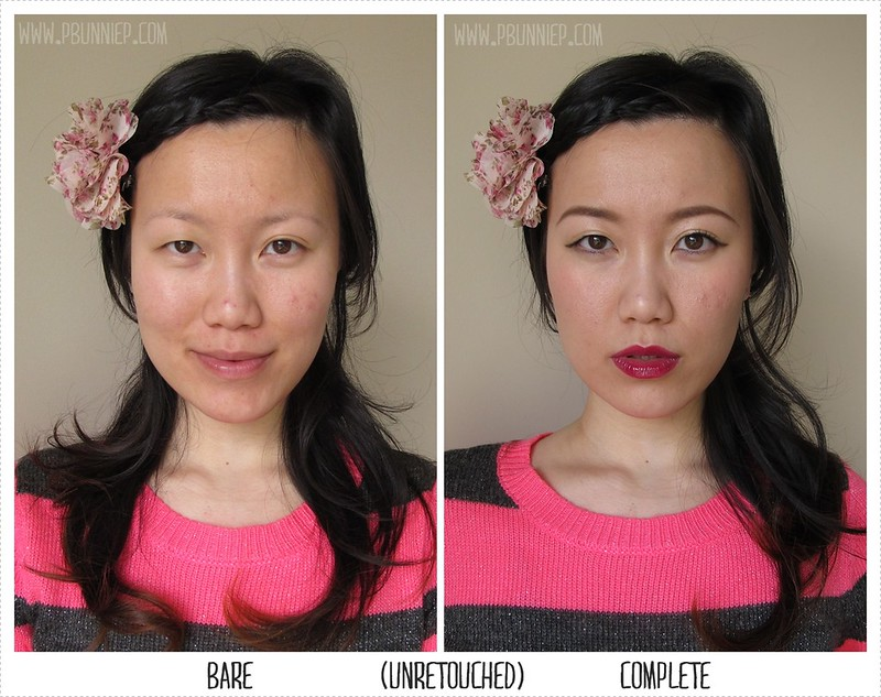 Coachella Makeup before-after