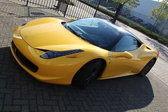 Partial carwrap en Paint Protection Film Ferrari 458 Italia
