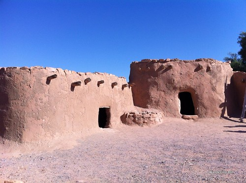 Reconstructed pueblos. Lost City Museum. Overton, NV