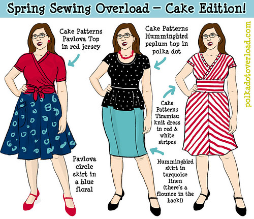 Spring Sewing Sketch 2013 — Cake Patterns Edition