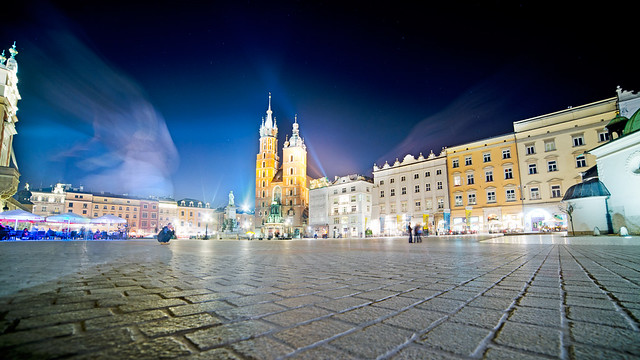Cracow at midnight