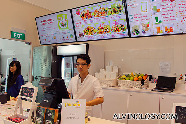 Nutritionist will serve you at the counter