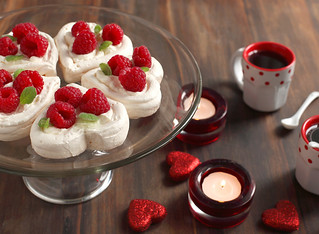 Heart shaped dessert