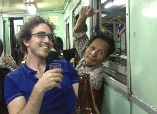 this guy insisted on pouring me whiskey and beer… later, both in the same glass
