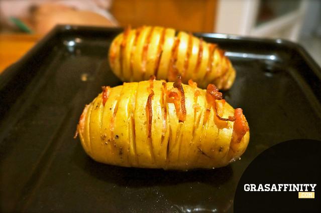 Patata al horno con queso