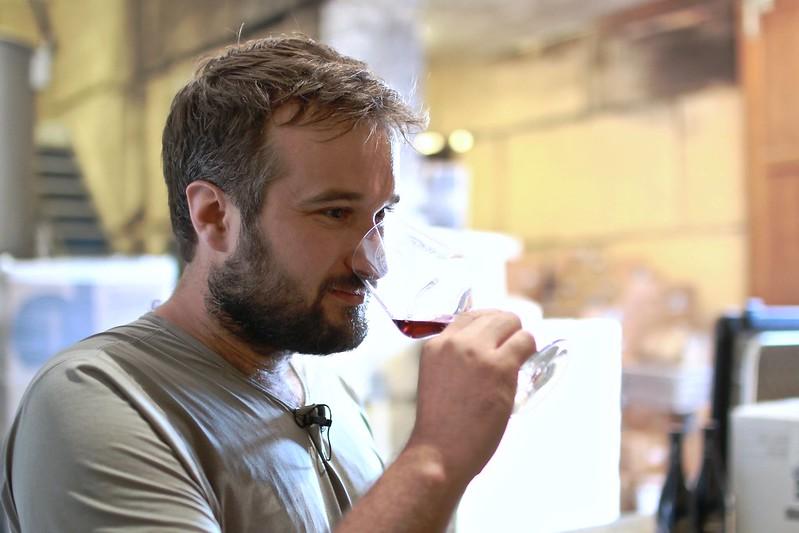 Antoine wine tasting at Viret wine cellar