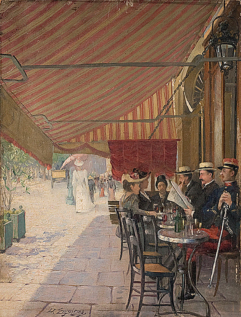 Terrasse De Cafe by Delphin Enjolras
