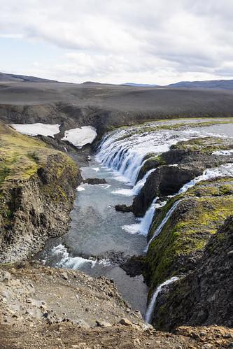 fagrifoss kloof ijsland gab waterfall waterval iceland suðurland is