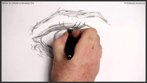 learn how to draw a human eye 008