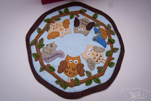Owl Wool Candle Mat