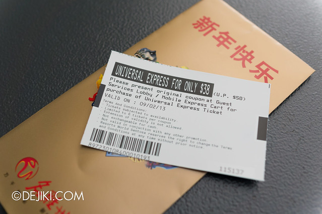 Universal Studios Singapore Red Packet - Vouchers