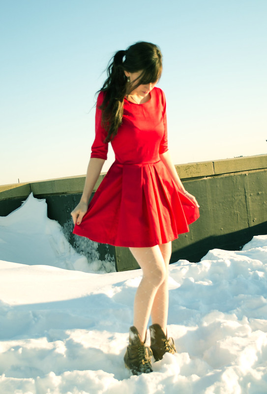New Girl red dress