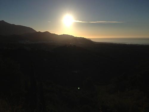 sunrise andalucía frigiliana