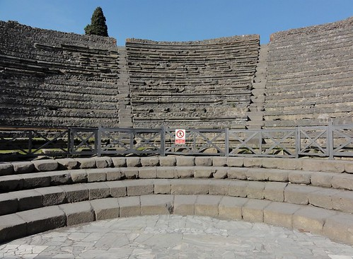 Indoor Roman Theater in Pompeii