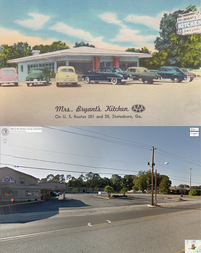 kitchen georgia restaurant timelapse motel 1950s statesboro 1952 thenandnow mrsbryants