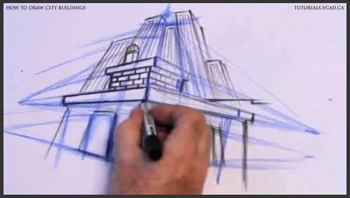 learn how to draw city buildings 020