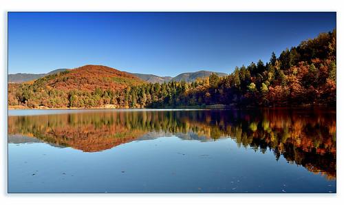 autumn lake reflection landscape nikon autunno colori riflessi paesaggio caldaro trentinoaltoadige appianosullastradadelvino d7000 robbar74 lagograndedimonticolo