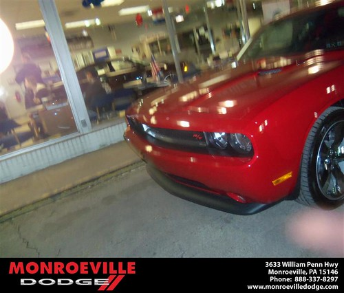 Congratulations to Joseph Verrico on the 2013 Dodge Challenger by Monroeville Dodge