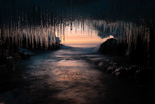 Ice Cave at Sunrise