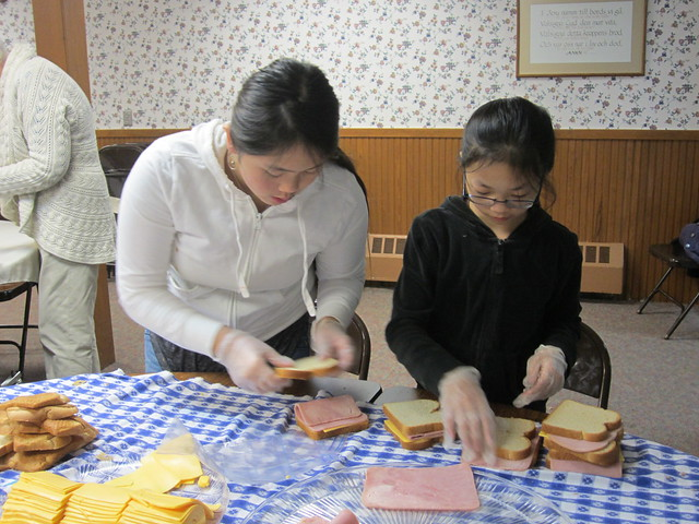 Helping Make 500 Sandwiches