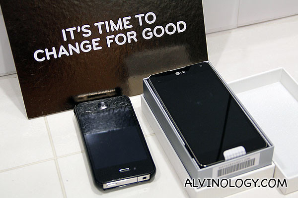 Going from iPhone 4/4S to LG Optimus G