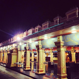 Temple night view #streetphotograpy #myworld #mobilephotography #pahang #ux
