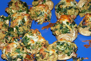 Healthier Stuffed Mushrooms
