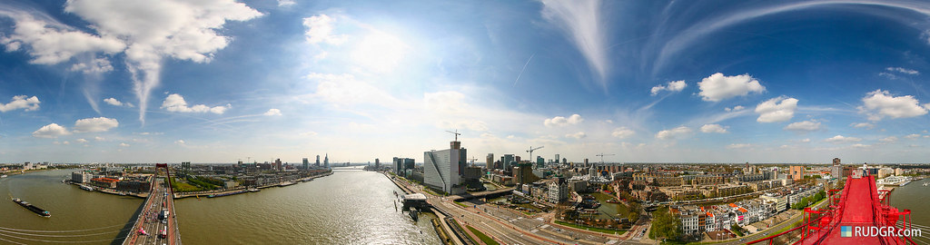360 degree panorama over Rotterdam
