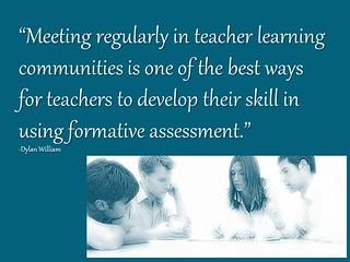 Teachers meeting regularly...