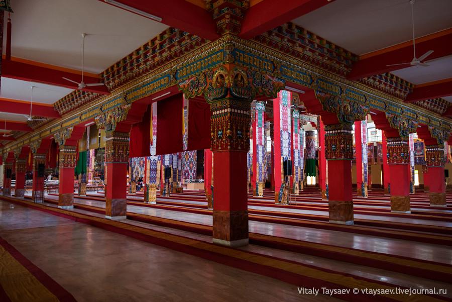 Inside tibetan temple