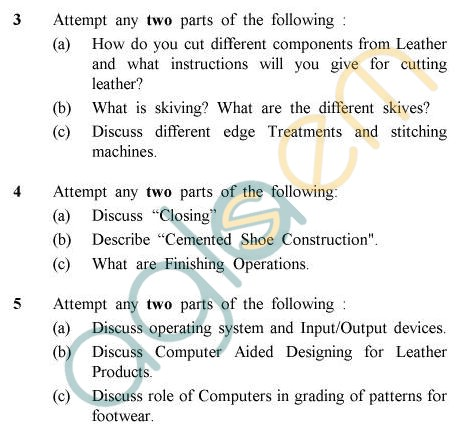 UPTU B.Tech Question Papers - LT-804 - Computer Aided Leather Products Design