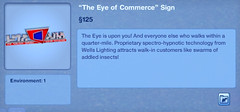 The Eye of Commerce Sign
