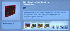 Fiery Fandom Wall Clock by GoTeamGo