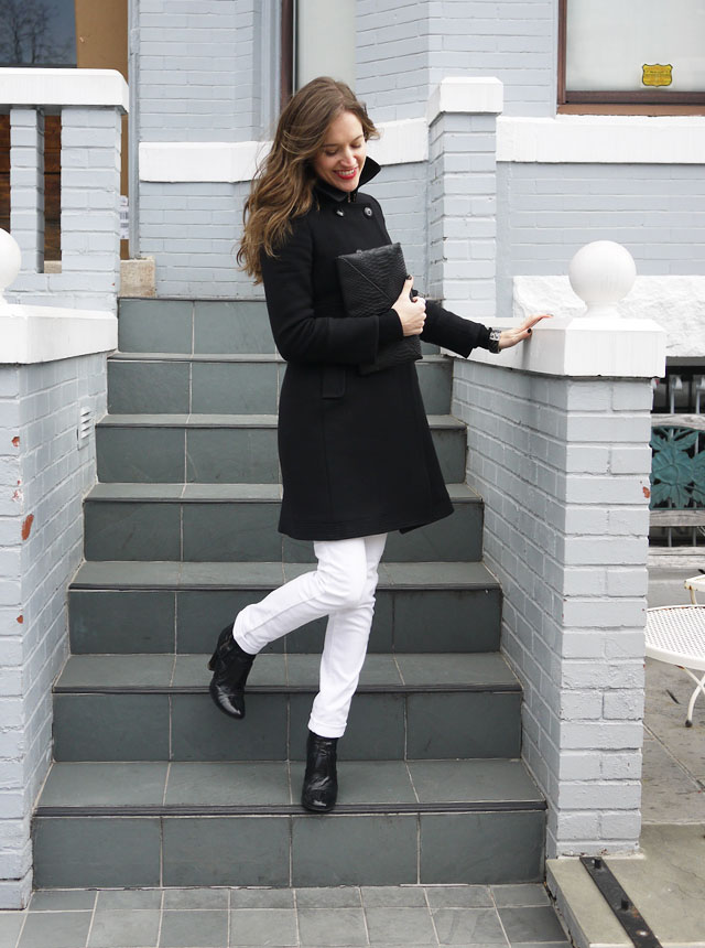 my fair vanity black trench white jeans style blog neutral for spring 2013 7