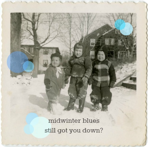 it's my first annual midwinter blues sale!