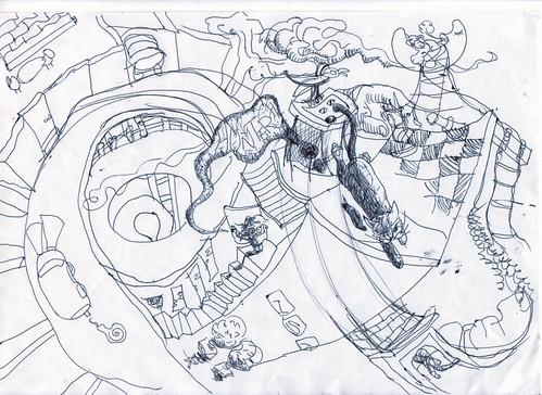 """""""Hunter"""" Original Sketch"""
