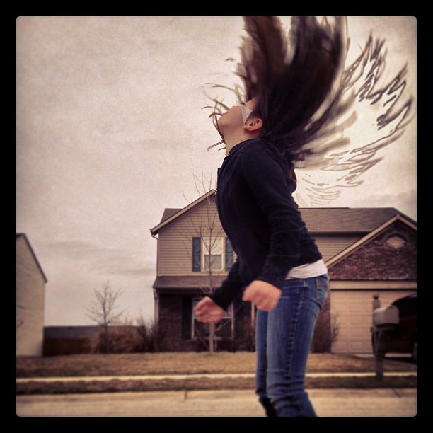 Whip my hair back and forth! #pjuniversity @photojojo