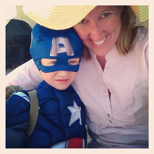 "Hello my name is ""Captain America's Mommy"" #boysareawesome #superhero"