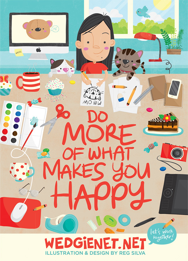 Do More of What Makes You Happy - my postcard mailer
