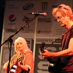 Fri, 15/03/2013 - 2:22pm - Emmylou Harris and Rodney Crowell at the WFUV Public Radio Rocks Day Stage, SXSW, Austin, TX. 3-15-2013. Photo by Laura Fedele