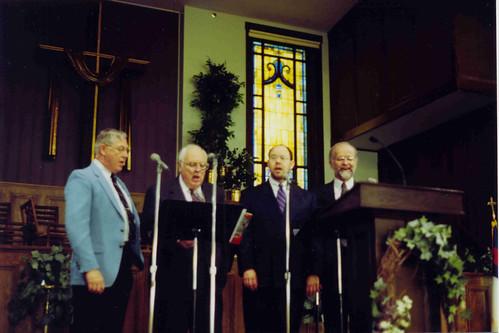 Dr. Biberstein with a faculty quartet
