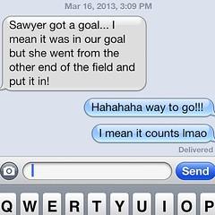 #soccer #whichgoaldoyoukickitin ohhhhh #sawyergrace