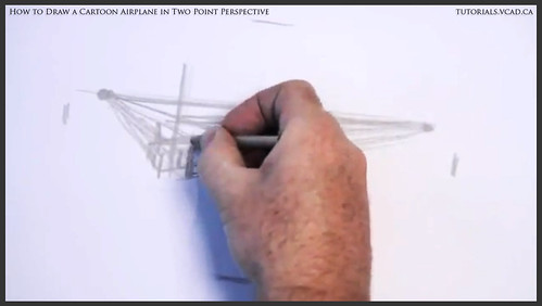 learn how to draw a cartoon airplane in two point perspective 003