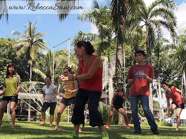 Rebecca saw 1Zumba dance - Club med bali Body and Soul program
